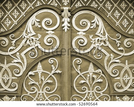 ornamented iron door closeup. More of this motif & more ornaments in my port.