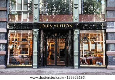 OSLO - AUGUST 21: Louis Vuitton store on August 21, 2010 in Stockholm. Forbes says that Louis Vouitton was the most powerful luxury brand in the world in 2008 with $19.4bn USD value.