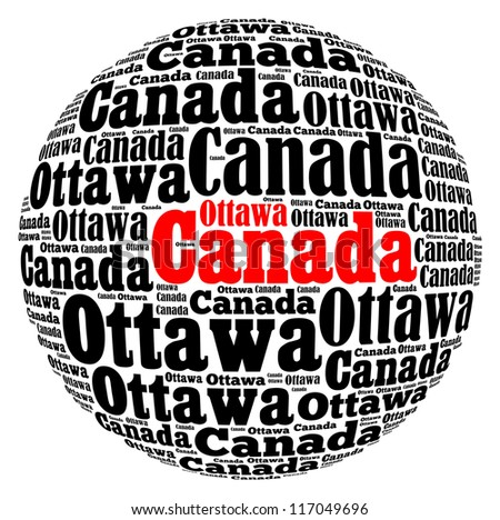 Canada info-text graphics and arrangement concept on white background ...