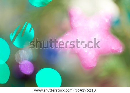 out of focus Christmas tree decorations