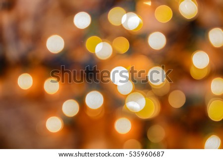 Out of focus white christmas holiday lights