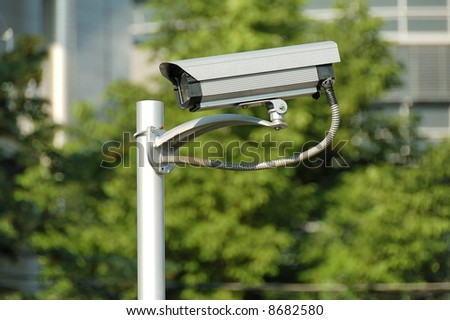 Outdoor security monitoring camera (video control system)