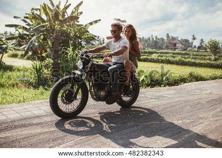 Motorbike On Road Riding Having Fun Stock Photo 509320381