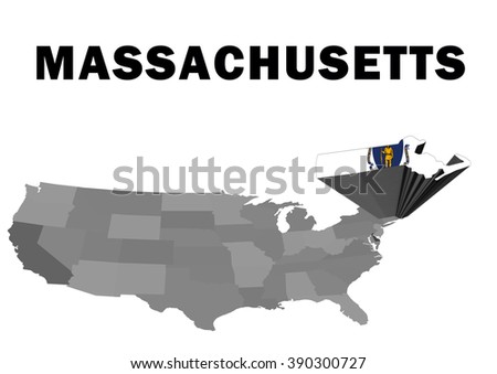 Outline Map United States State Indiana Stock Illustration