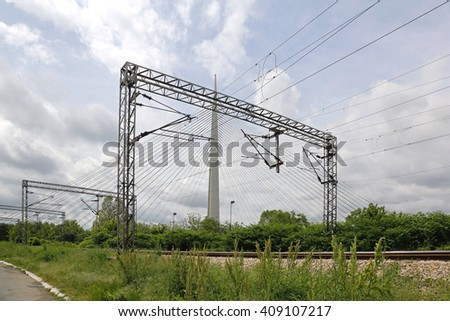 Overhead Train Line Electrical Transmission System
