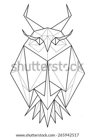 Vector Polygonal Illustration Geometric Owl Gradient Stock ...   322 x 470 jpeg 26kB