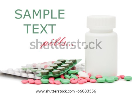 Packs of pills - abstract medical background