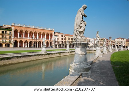 PADUA, ITALY - SEPTEMBER 9, 2014: Prato della Valle from south-east.