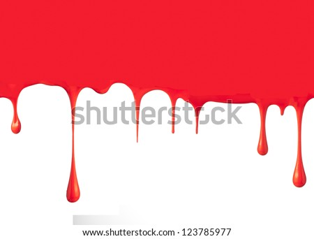 Vector Dripping Blood Paint Drips Stock Vector 553070611
