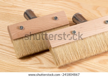 paintbrush for wood. brush for painting wood protective oil