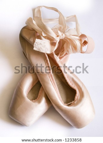Pair of isolated ballet shoes