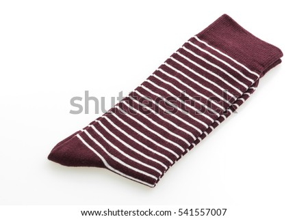 Pair of socks for clothing isolated on white background