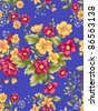 paisley seamless background pattern - stock photo