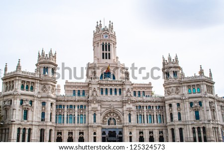Palace in  the center of Madrid, Spain