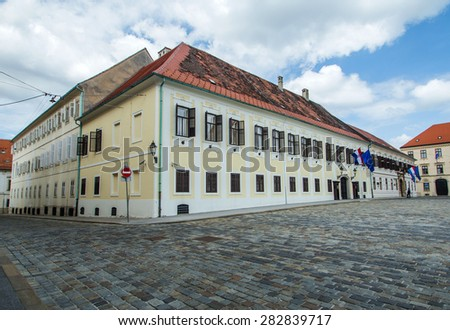 Palace of Croatian Government on St Mark's Square in Zagreb