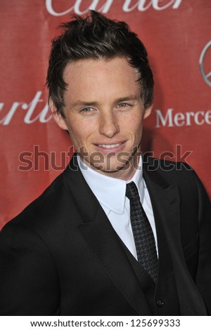 PALM SPRINGS, CA - JANUARY 5, 2013: Eddie Redmayne at the Awards Gala for the 2013 Palm Springs International Film Festival.