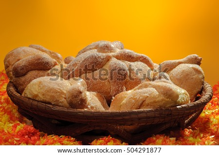 Pan de Muerto, Sweet bread enjoyed during Day of the Dead festivities in Mexico.