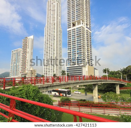 PANAMA CITY/PANAMA - SEPTEMBER 29 2014: Panama City buildings. Central America