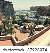 Panorama from port Font Vieil , Monaco - stock photo