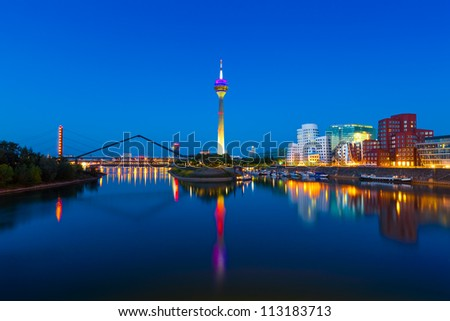 Panorama of Dusseldorf, Germany