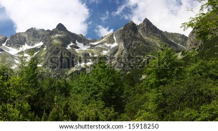 Panorama of High Tatras Mountains, Slovakia