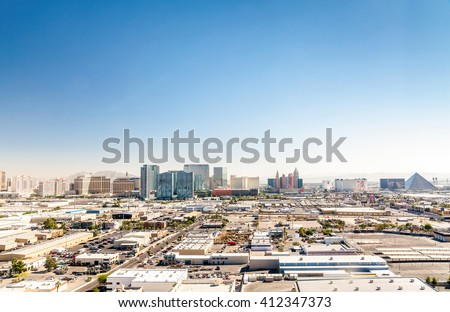 Panorama of Las Vegas, Nevada, USA