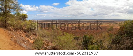 Panorama of the Krueger national park, South Africa