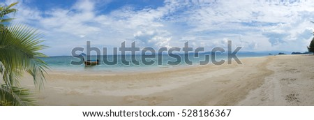 Panorama of tropical, summer landscape in the mountain and sea  , Thailand