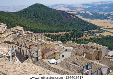 Panoramic view of Sant'Agata di Puglia. Puglia. Italy.