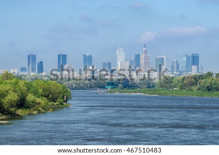 Panoramic view of the Warsaw City. Photo taken on: april 21th, 2016