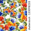Pansies Seamless Pattern - stock photo