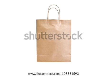 Paper bag isolate on white background