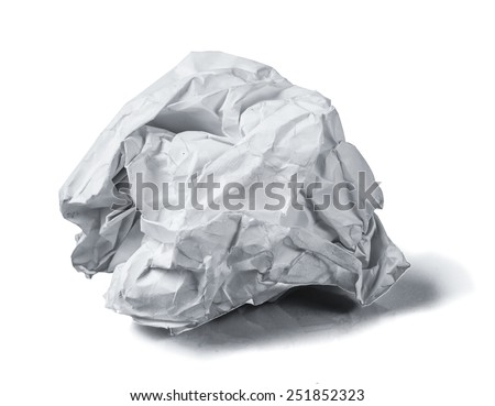 paper ball on white background
