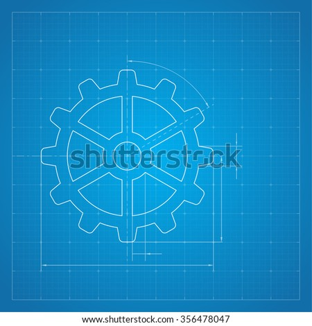 Paper blueprint background drawing paper architectural vectores en paper blueprint background gears symbol on the drawing paper concept of motion and mechanics malvernweather Images