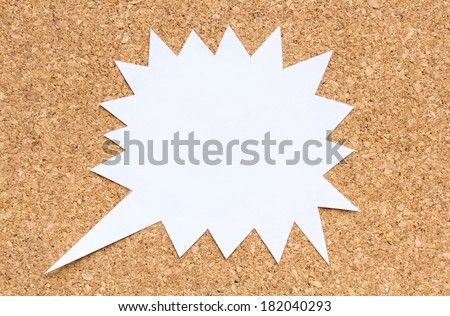 paper bubbles on cork board