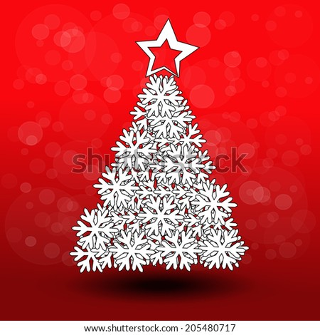 paper Christmas tree - snowflake decoration