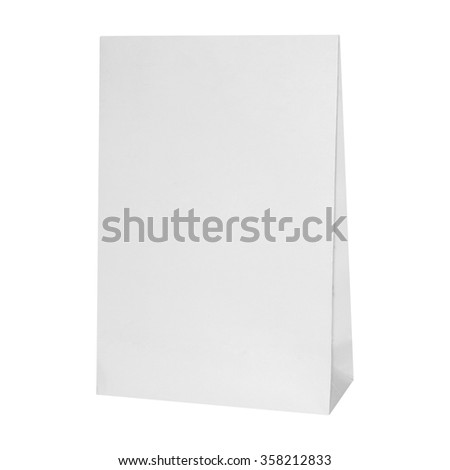 paper gift package paper isolated on white background.