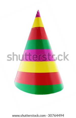 paper party hat on white
