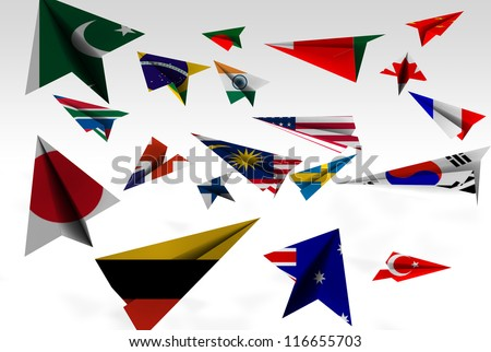Paper Plane Flags