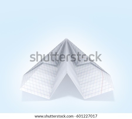 Paper Plane Made Graph Paper Isolated Stock Illustration 601229672 ...