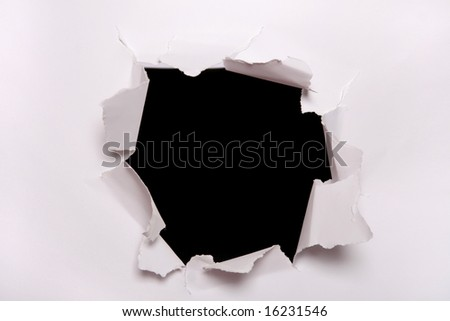 Paper's hole