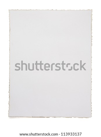 paper vintage parchment isolated on white background