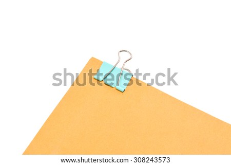 Paperclip isolated on white background.