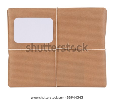 Parcel with blank space for address