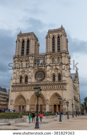 Paris, France, July 26.2015-Notre Dame Cathedral in Paris