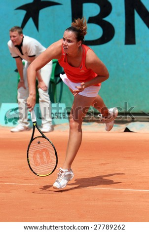 PARIS - MAY 23: Slovakia's professional tennis player Jarmila Gajdosova (Groth) during her match at French Open, Roland Garros on May 23, 2008 in Paris, France.