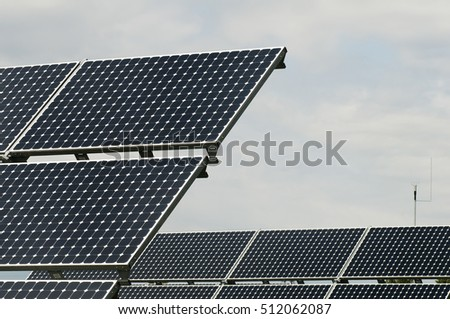 park with solar panels