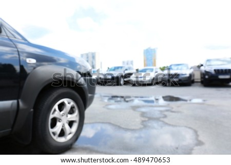 Parking cars on street