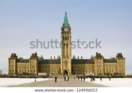 Parliament building in Ottawa - Centre Block