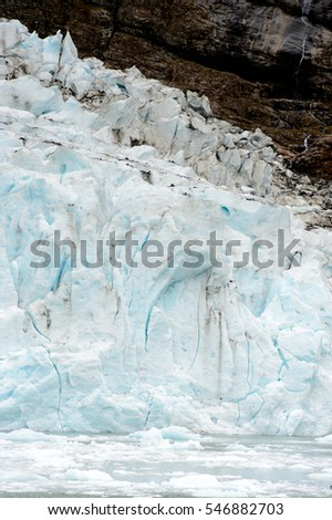 Part of the glacier in the Bernardo O'Higgins National Park, Chile, South America